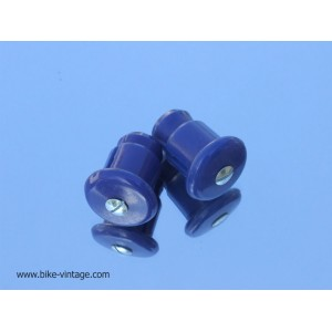 PAIR OF VINTAGE HANDLEBAR PLUGS Blue