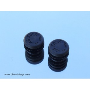 PAIR OF VINTAGE HANDLEBAR PLUGS Club Roost CA USA Black
