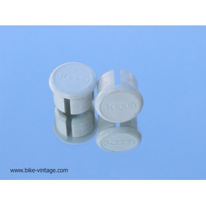 pair of NOS 3ttt handlebar end plugs white