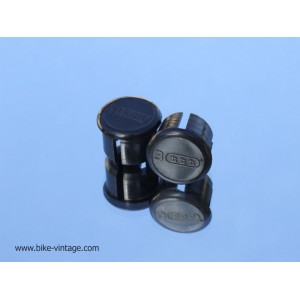 pair of NOS vintage 3ttt handlebar end plugs Black