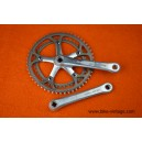 Vintage Shimano 600 EX crankset FC-6207 Biopace for road race bicycle 170mm 52/42
