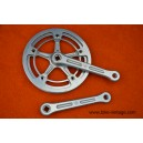 Vintage crankset Gipiemme Special Strada Italy single speed fixedgear 170mm 46t chainring guards