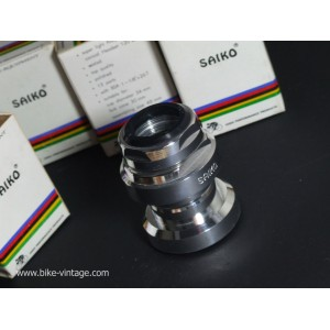 vintage Headset SAIKO, CAMPAGNOLO C RECORD IMITATION, ALUMINIUM new, NOS, BSA english thread 1-1/8''x26t