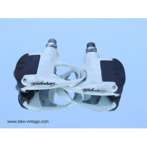 campagnolo Record pedals, white, look system vintage, for sell