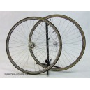 Campagnolo Gran Sport wheels set with quick release Mavic GP 4 rims 6 speed dura ace vintage